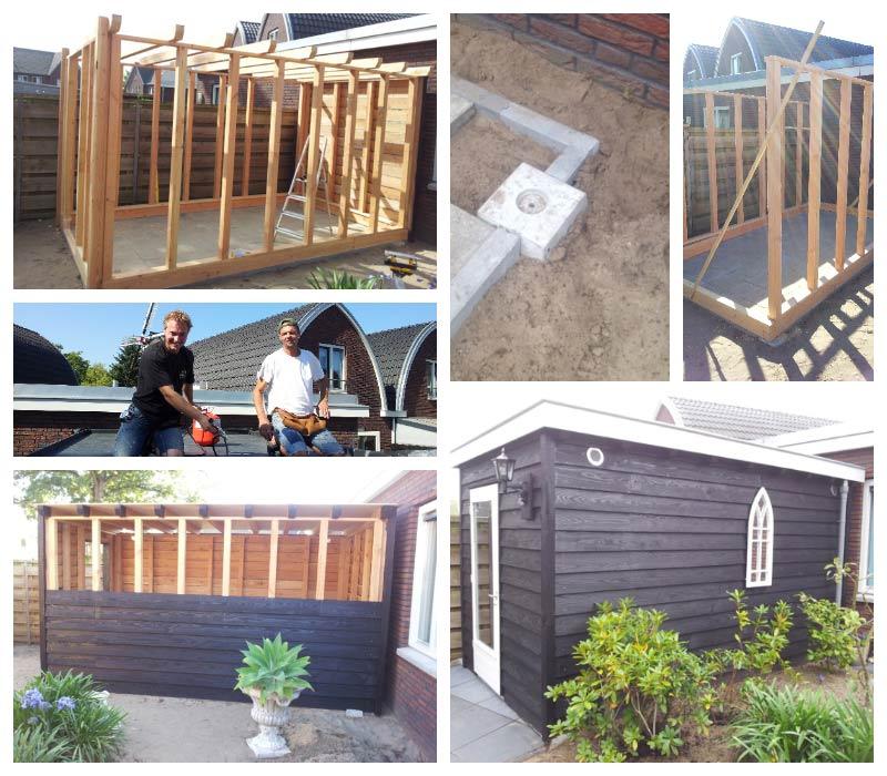 Maatwerk aanpassing of nieuwbouw aan huis tuin of winkel for Houtskelet schuur