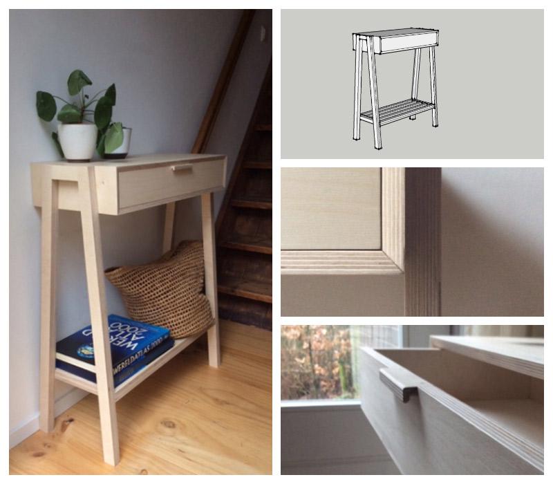 maatwerk meubel -sidetable-